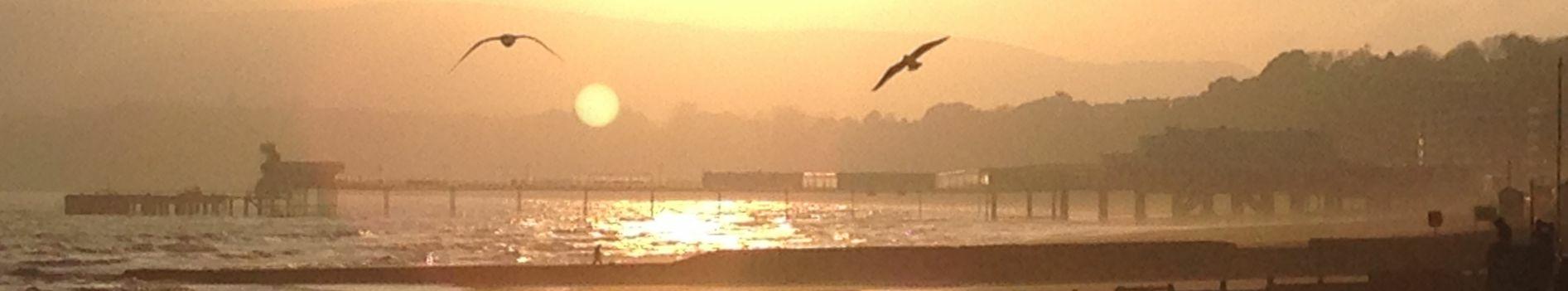 IoW sunset pier